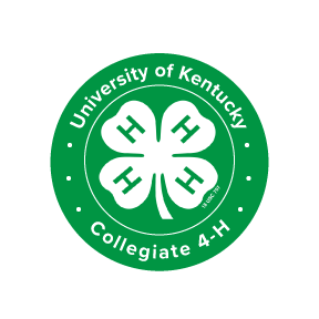 "Green Seal featuring white 4-H Clover logo surrounded by text reading ""University of Kentucky Collegiate 4-H"