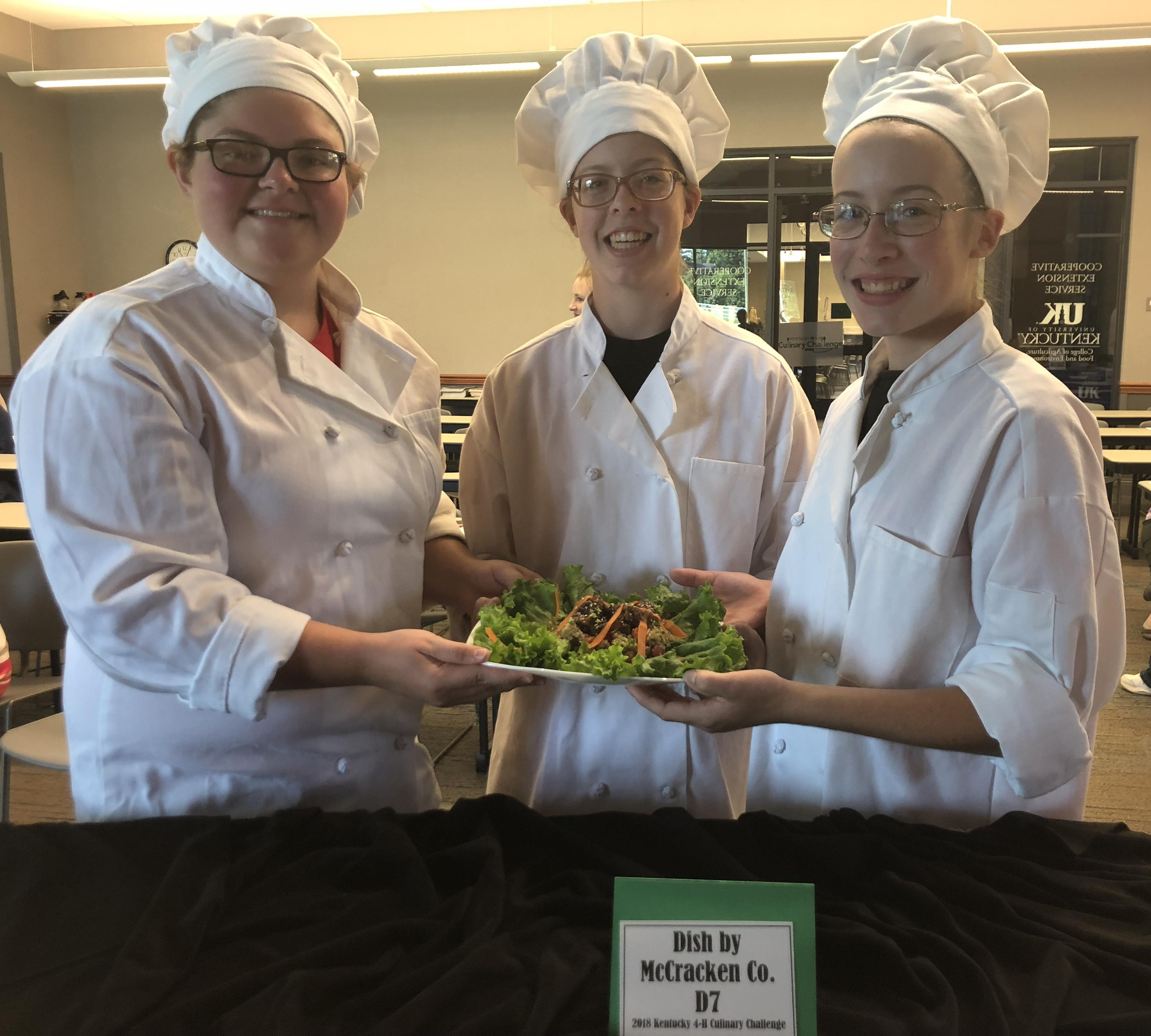 McCracken Co. 4-H Team wins the 2018 Kentucky 4-H Culinary Challenge.