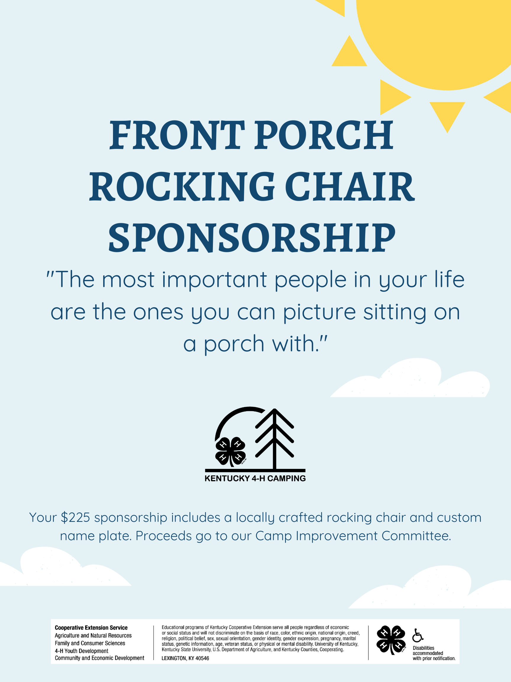 Rocking Chair Sponsorship